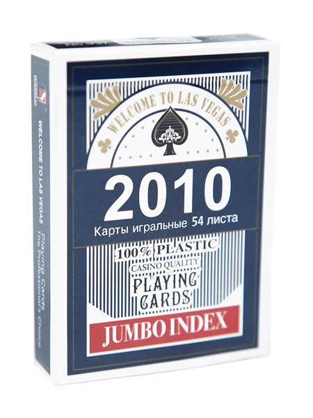Фотография Карты 2010 blue (JUMBO INDEX) 100% plastic, №937