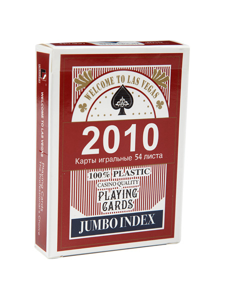 Фотография Карты 2010 red (JUMBO INDEX) 100% plastic, №937